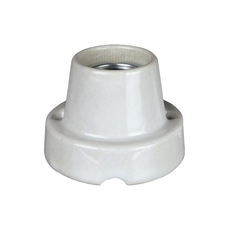Suporte cerâmico com cabo e interruptor.